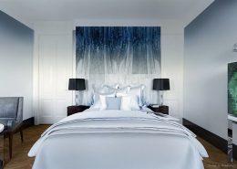 Ścienny panel dekoracyjny w sypialni Dominika Rostocka