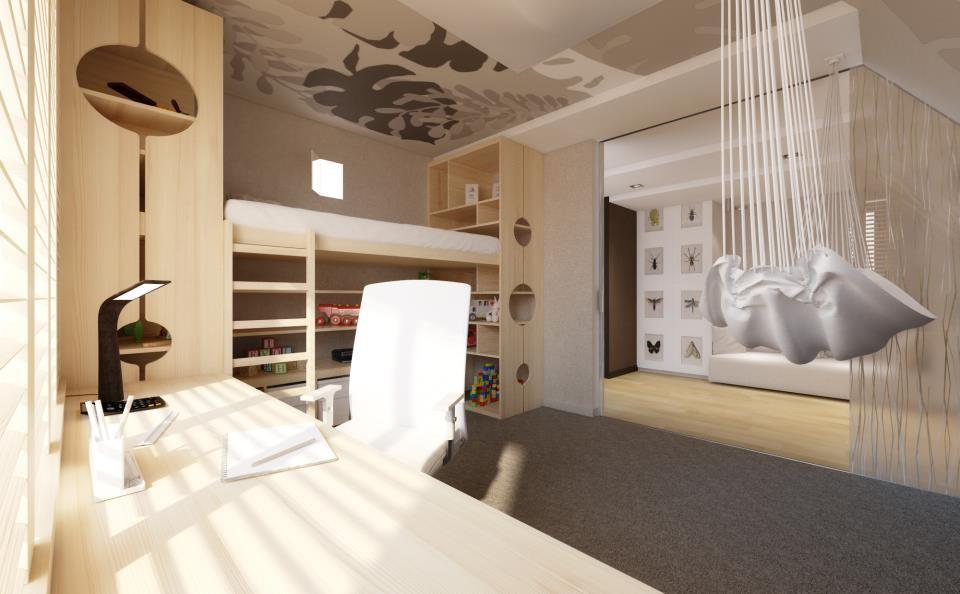 Pokój dziecięcy z piętrowym łóżkiem Concept - pokoje dla dzieci
