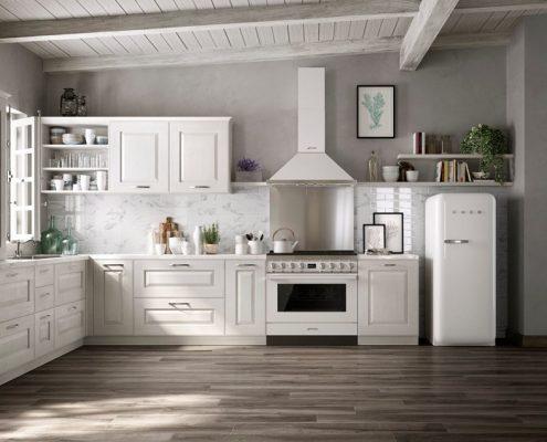 Białe meble i AGD w klasycznym stylu Smeg