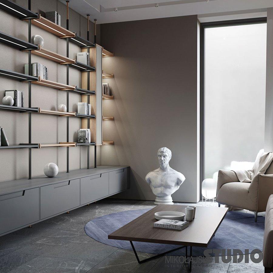 Otwarta kuchnia w bieli hola design homesquare - Drewniana Ciana W Salonie