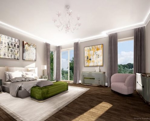 Duża sypialnia z kącikiem wypoczynkowym Dominika Rostocka