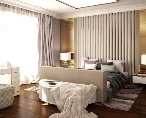 Elegancka sypialnia w ciepłych kolorach Dominika Rostocka