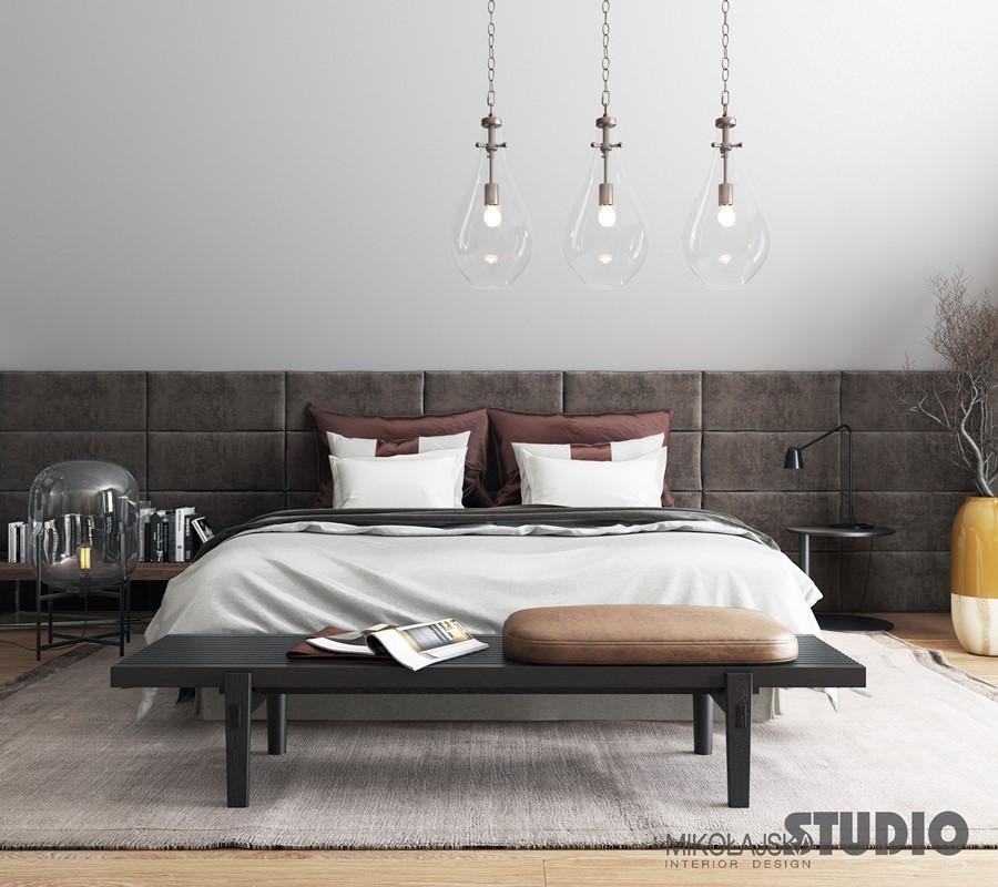 Elegancka sypialnia z toaletką Mikołjaska Studio - pomysł na sypialnię
