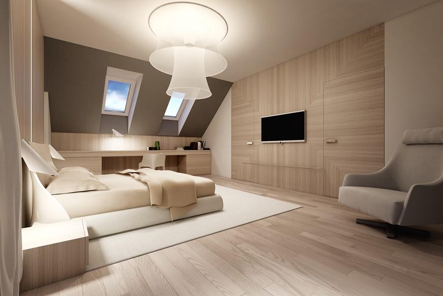 Fornir w nowoczesnej sypialni Concept