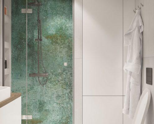 Mała łazienka w bieli Mikołajska Studio