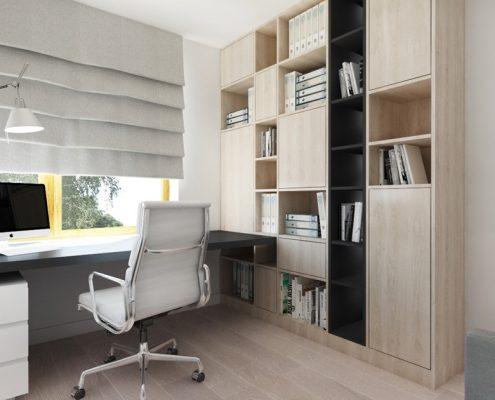 Małe biuro w domu Nasciturus Design
