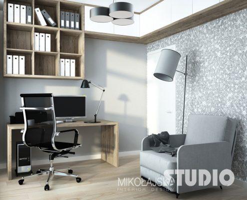 Mały gabinet w mieszkaniu Mikołajska Studio
