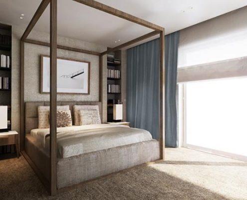 Nowoczesne łóżko z baldachimem Katarzyna Kraszewska