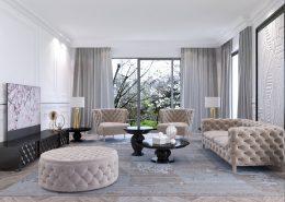 Pikowane meble w salonie Dominika Rostocka