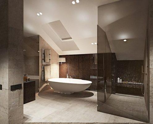 Pokój kąpielowy - poddasze Katarzyna Kraszewska