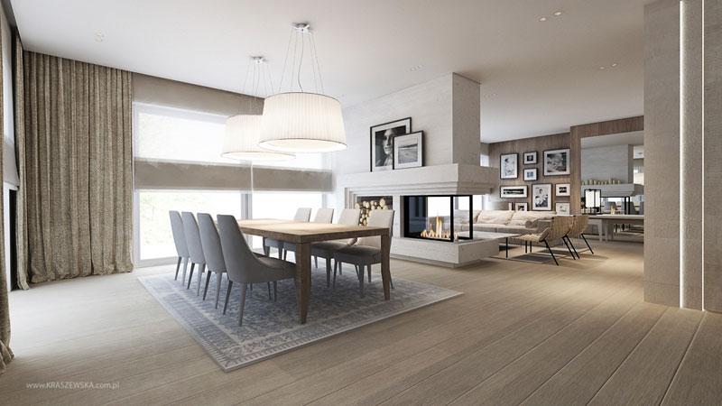 Przytulny pokój dzienny w nowoczesnym stylu - ekskluzywne wnętrza
