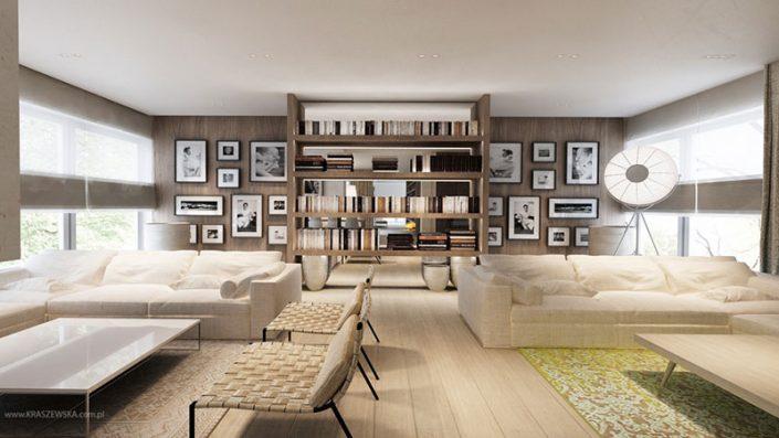 Przytulny pokój dzienny w nowoczesnym stylu - ekskluzwyne wnętrze