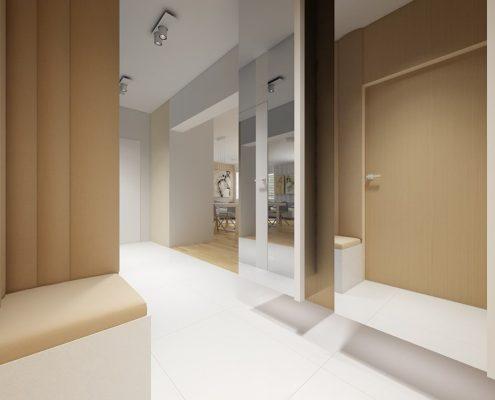 Tapicerowane ściany w małym przedpokoju Concept