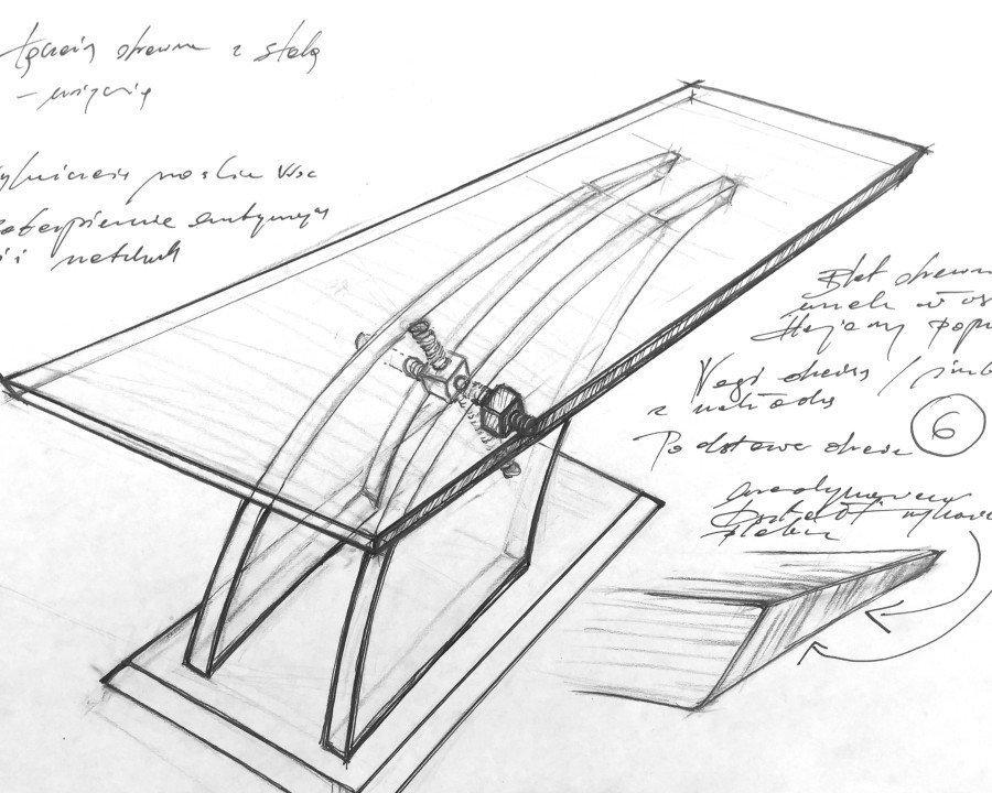 projekt stołu Art Loft - meble na zamówienie