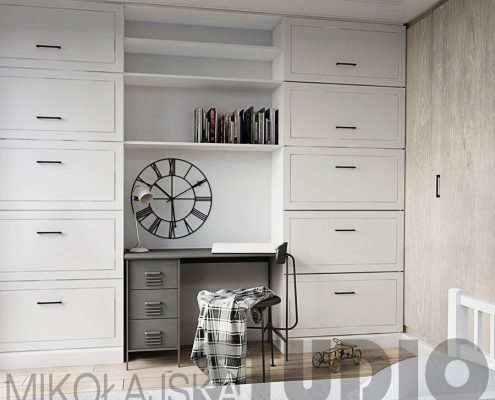 Biały pokój dla nastolatka - Mikołajska Studio