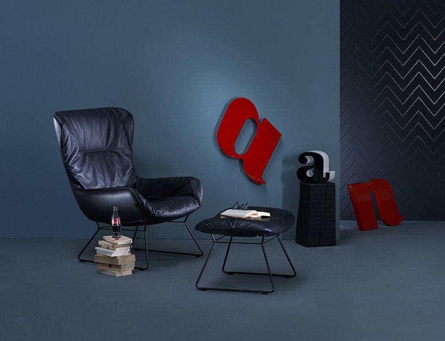 Stylowy fotel Leya Wingback Chair - FreiFrau