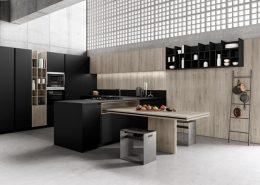 Czarne meble kuchenne w nowoczesnym stylu - TLK Kitchens kuchnie włoskie