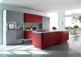 Czerwone meble kuchenne w nowoczesnym stylu Miton MT 701