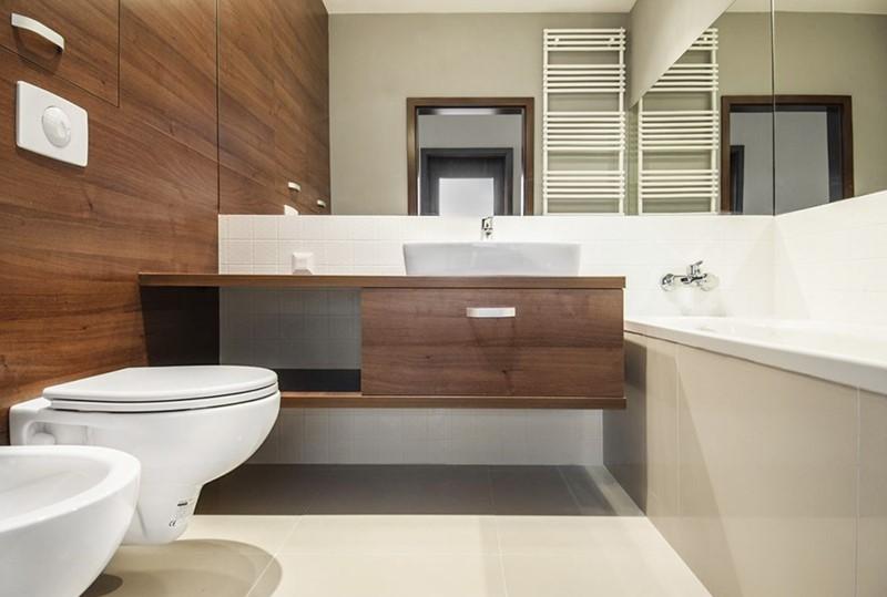 Drewno w łazience - wykańczanie wnętrz