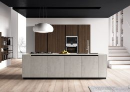 Drewno w aranżacji nowoczesnej kuchni - TLK Kitchens