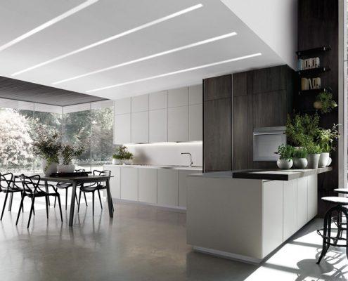 Duża kuchnia z nowoczesnymi meblami - TLK Kitchens