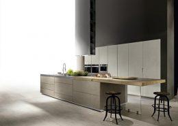 Imitacja betonu na frontach kuchennych Miton Limfa Cemento