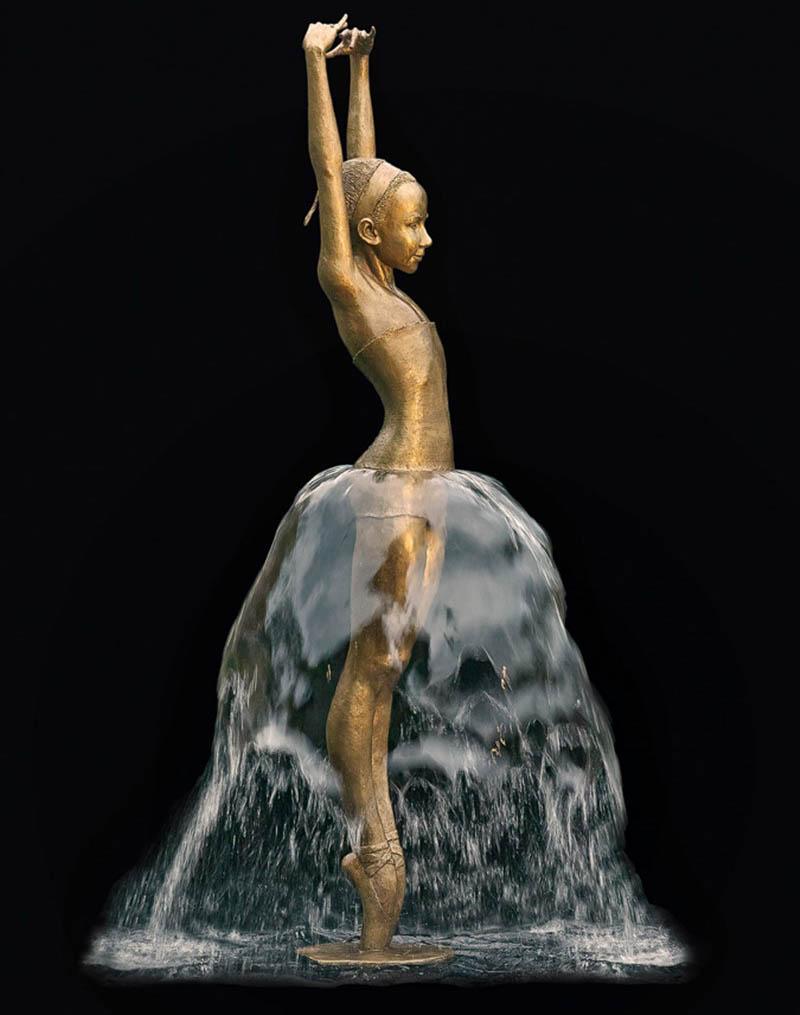 Kleine Ballerina - wodne rzeźby Małgorzata Chodakowska