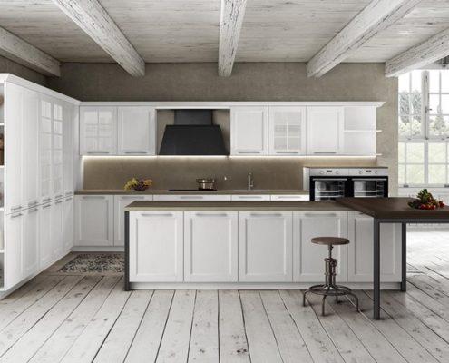 Meble kuchenne w rustykalnym wnętrzu Miton Talia
