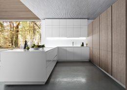 Minimalistyczne meble kuchenne w bieli - TLK kitchens