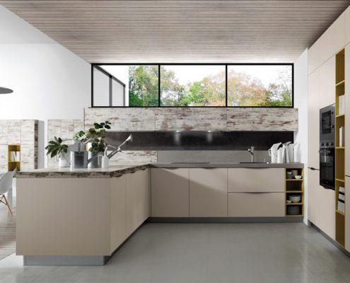 Otwarta kuchnia w minimalistycznym wydaniu - TLK Kitchens