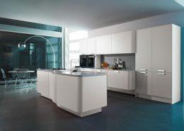 Zaokrąglone kształty nowoczesnym mebli kuchennych Miton MT 701
