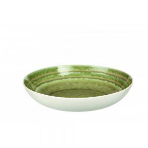 Porcelanowa salaterka Bambou zieleń śr. 28 cm