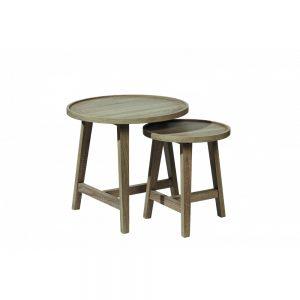 Komplet wsuwanych pod siebie stołów Nordic