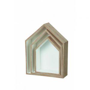 Półki w kształcie domków Hjem