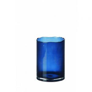 Granatowy wazon ze szkła ROSIS