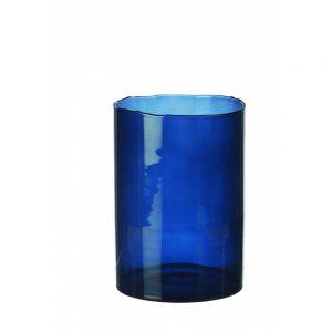 Granatowy wazon ze szkła