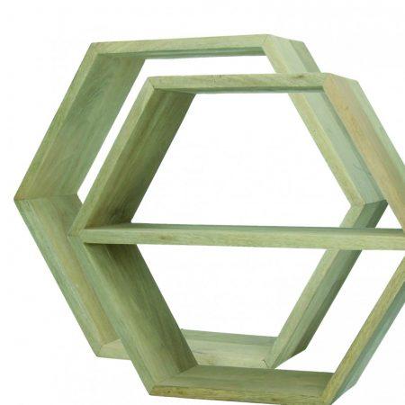 Zestaw dwóch heksagonalnych półek Graphik
