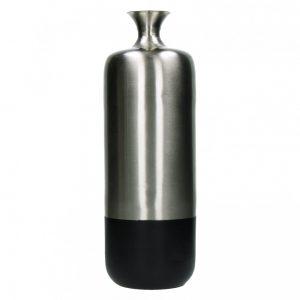 Metalowy wazon BAHAI srebrno-czarny L