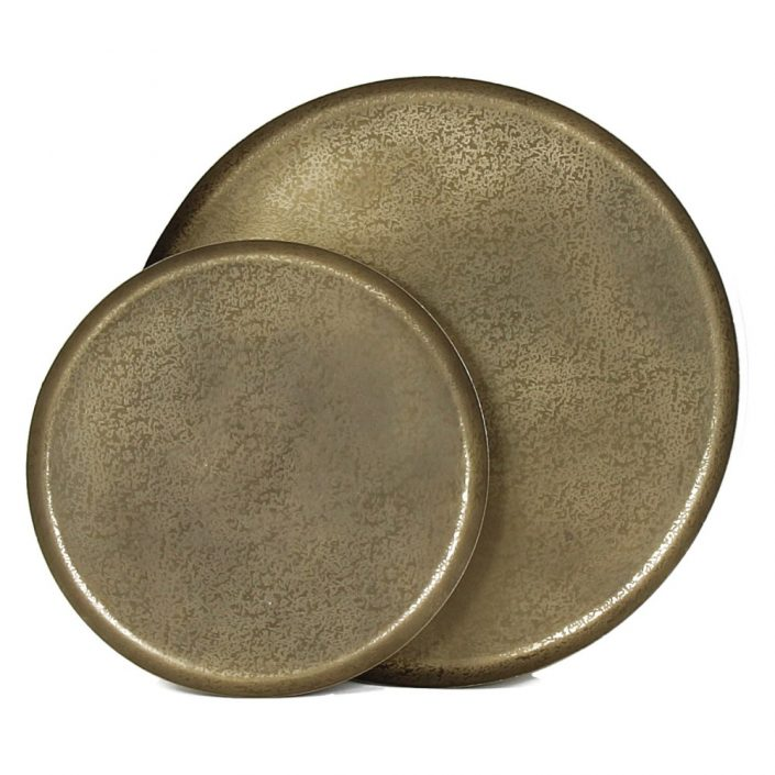 Okrągłe metalowe tace