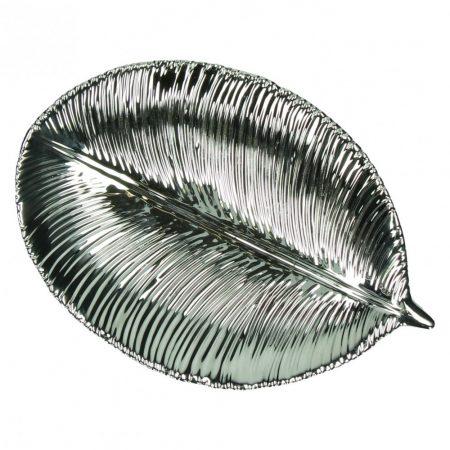 Talerz dekoracyjny Mystery srebrny