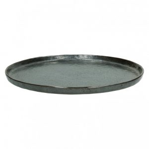 Porcelanowy talerz obiadowy Porcelino Bronze