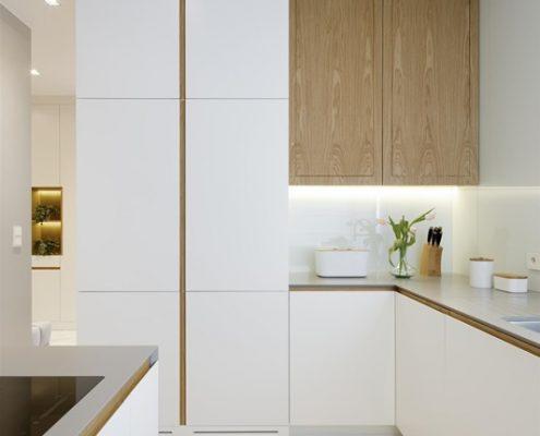 Biała kuchnia we wnęce - Hola Design