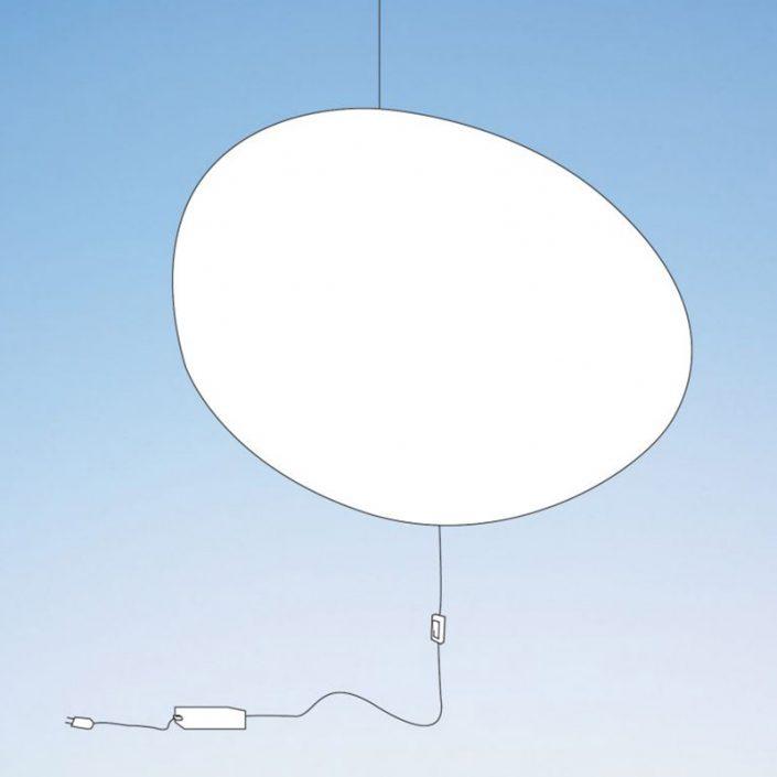 Designerska lampa Nimbostra z wtyczką version