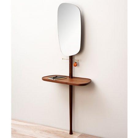 Nowoczesna drewniana konsola z lustrem Recibidor Nomon