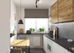 Kuchnia oszczędna w formie - Huk Architekci