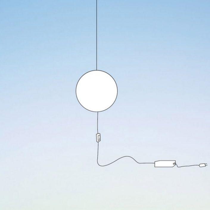 Lampa dekoracyjna Mini zasilana wtyczką - 24x24x4cm