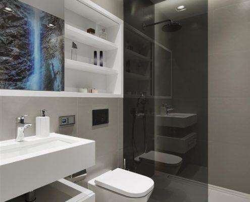 Mała łazienka przy sypialni - Hola Design
