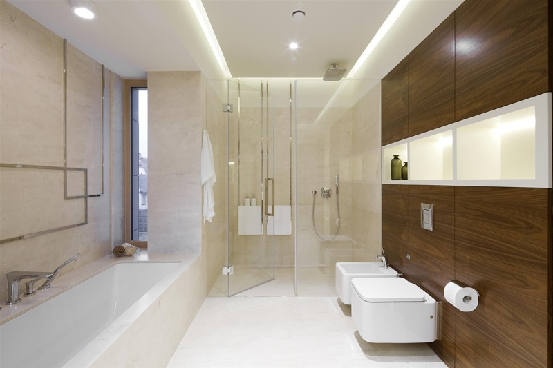 Naturalne materiały w stylowej łazience - Hola Design - pokoje kąpielowe