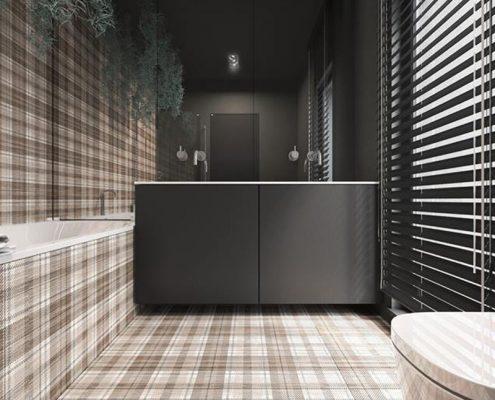 Nowoczesna łazienka w kratkę - Concept Architektura