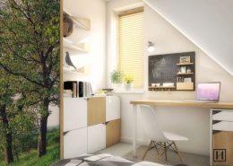 Pokój nastolatka na poddaszu - Huk Architekci